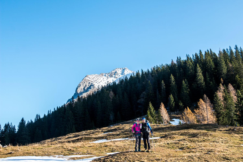 Anja und Sandro beim Gspitzten Stein, Lugauer