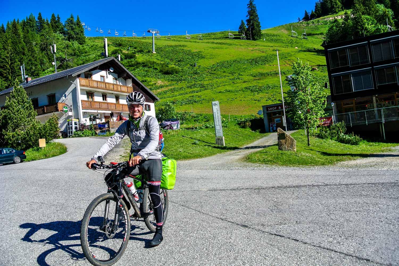 Sandro am Niederalpl mit seinem Bike, Mariazell 2.0