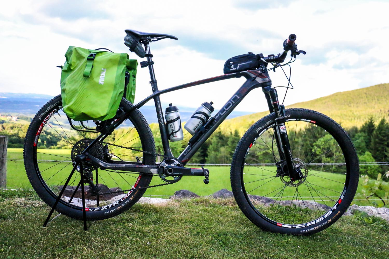 Bike mit Packtaschen, Packliste für Mariazell 3.0