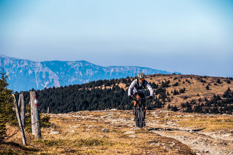 Sandro am Hochwechsel im The Wu Trail