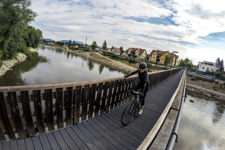 Bikepacking zum Großglockner: Am Murradweg unterwegs Richtung Köflach