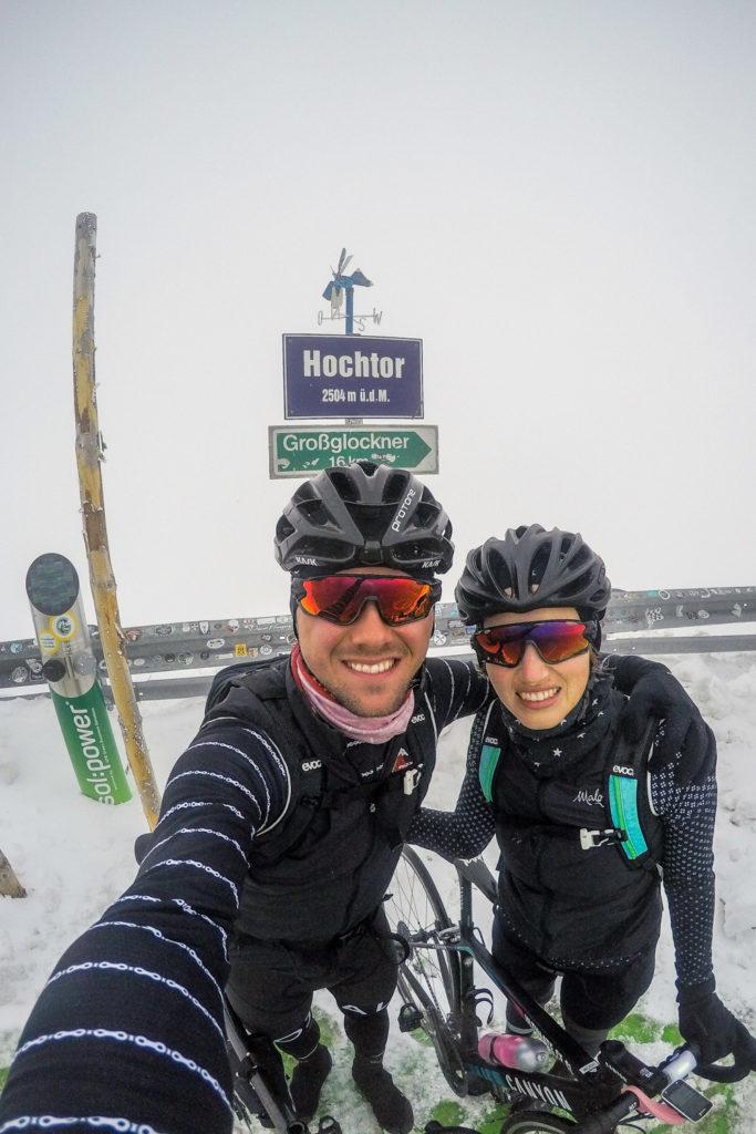 Bikepacking zum Großglockner: Am Hochtor der Großglockner Hochalpenstraße angekommen