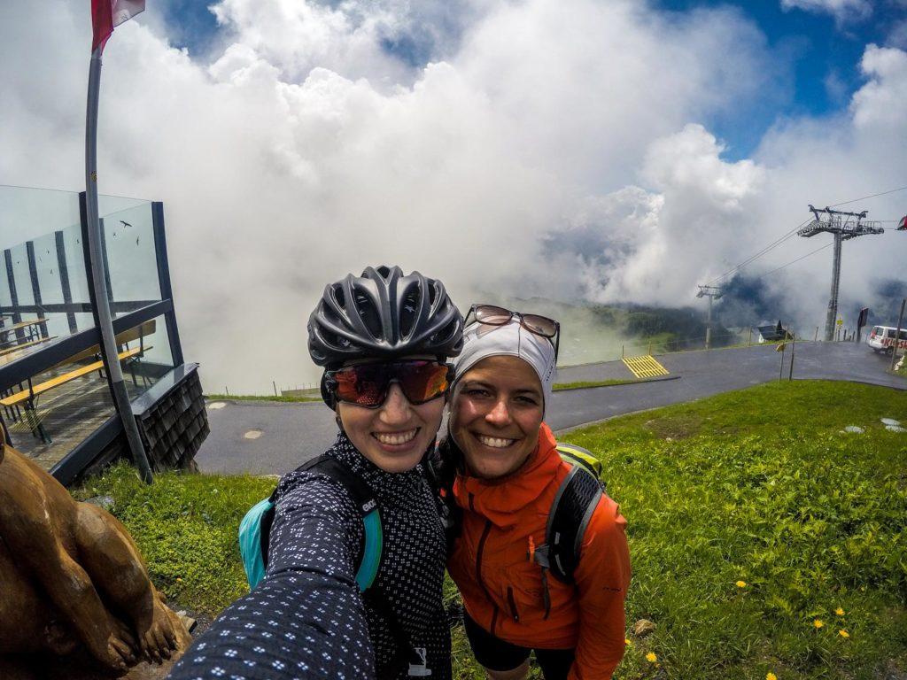 Mountainbiken, Mountainbike-Tour, Kitzbüheler Horn, Kitzbühel, Gipfelhütte, Gipfelhaus