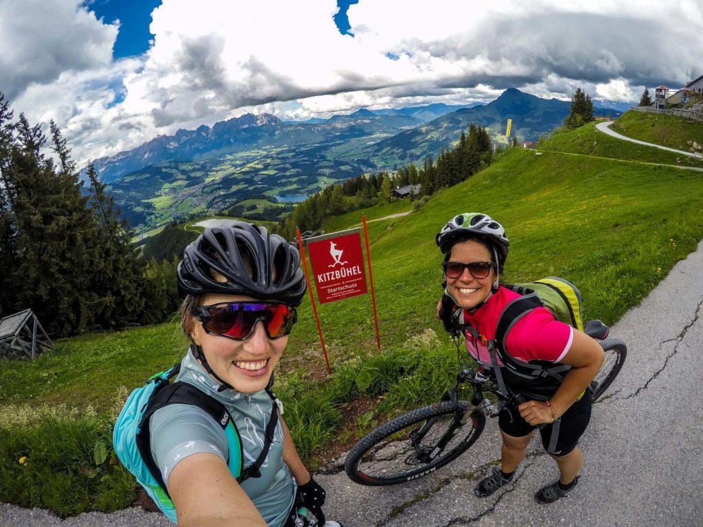 Mountainbiken, Mountainbike-Tour, Kitzbühel, Streif, Mausefalle, Starthaus, Schwarzsee