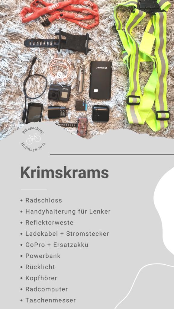 Bikepacking Packliste: Krimskrams