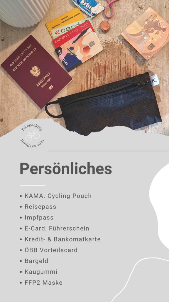 Bikepacking Packliste: Persönliches