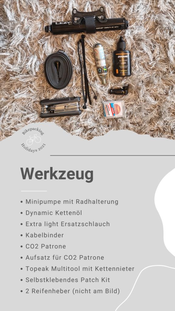 Bikepacking Packliste: Werkzeug