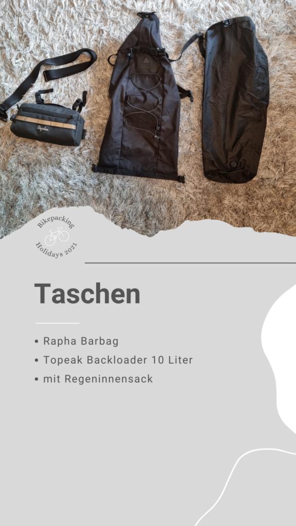 Bikepacking Packliste: Taschen