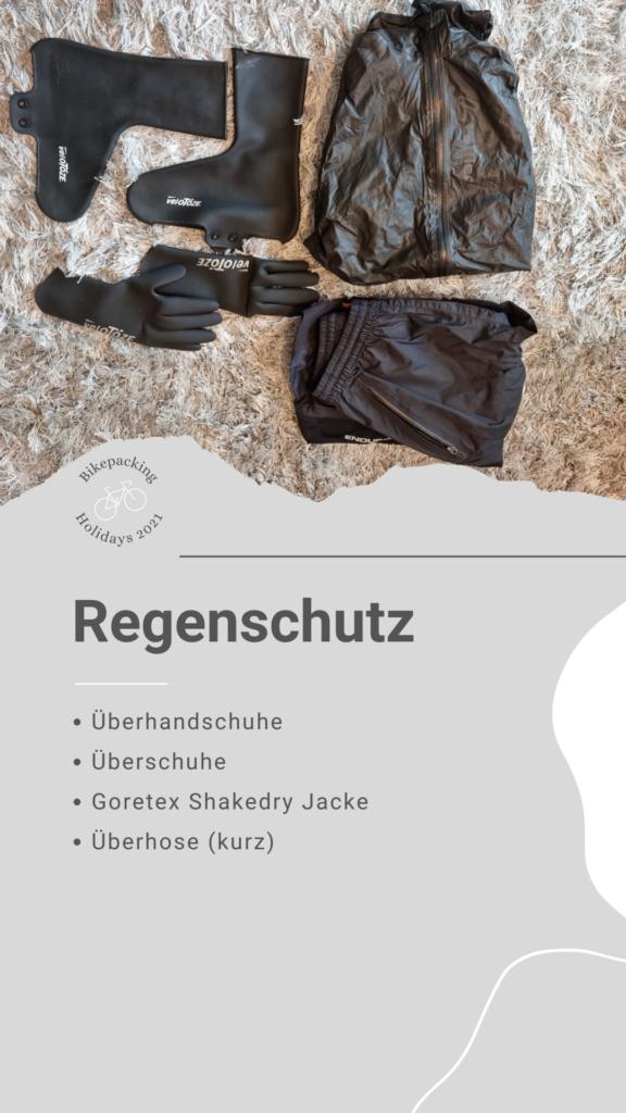 Bikepacking Packliste: Regenschutz
