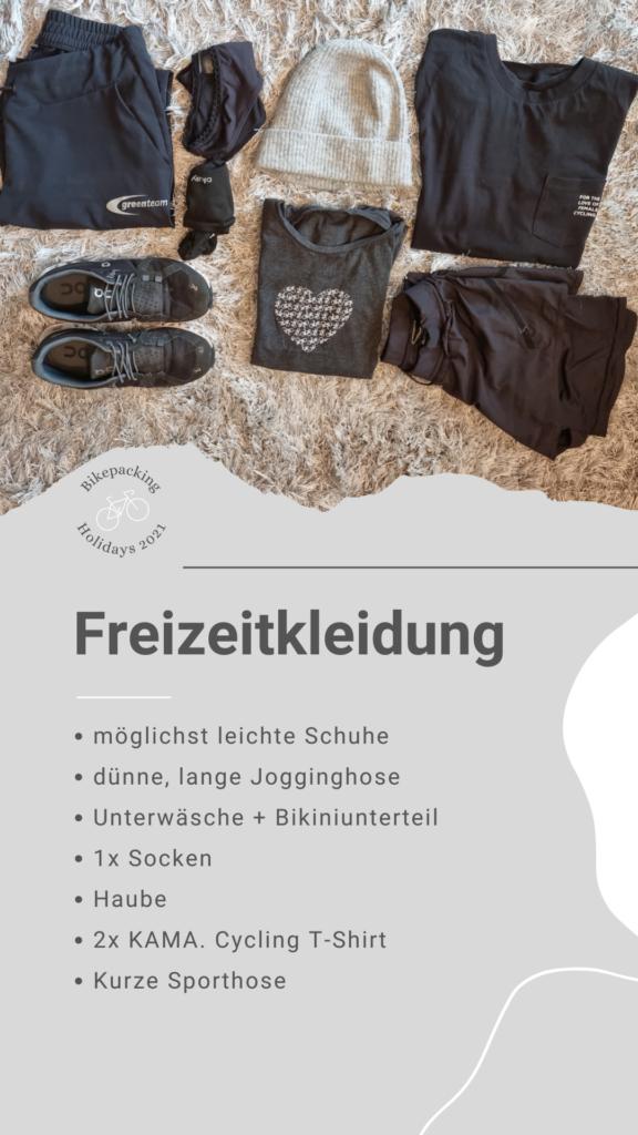 Packliste Bikepacking: Freizeitbekleidung